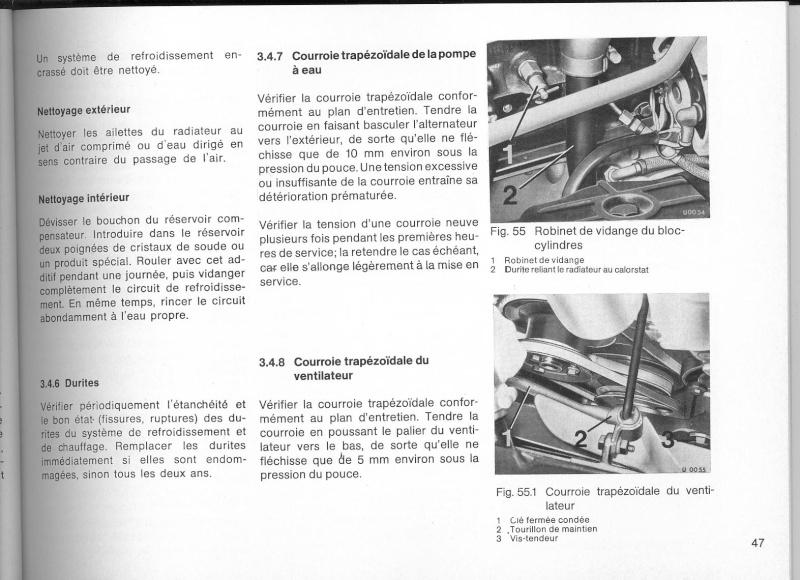Vidange du circuit de refroidissement 421 moteur 616 Livret11