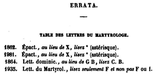 Fêtes de la Circoncision de N.-S. J-C. et de son Très Saint Nom. Errata12