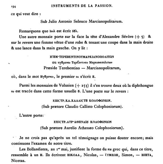MÉMOIRE sur les instruments de la Passion de N.-S. J.C. - Page 2 Page1918