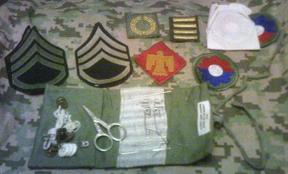 WW2 Red Cross sewing kit from 45th/9th Div SSgt Pict0055