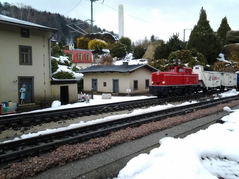Egal welches Wetter - die Eisenbahnwelten im Kurort Rathen 20130418