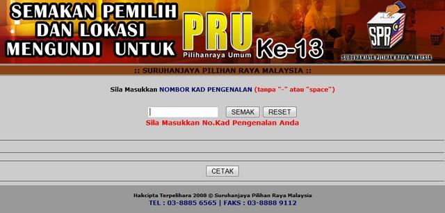 Semak tempat anda mengundi pru13 2013-010