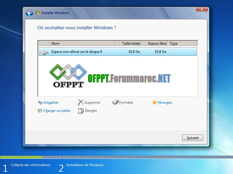 Comment installer Microsoft Windows 7 Image015