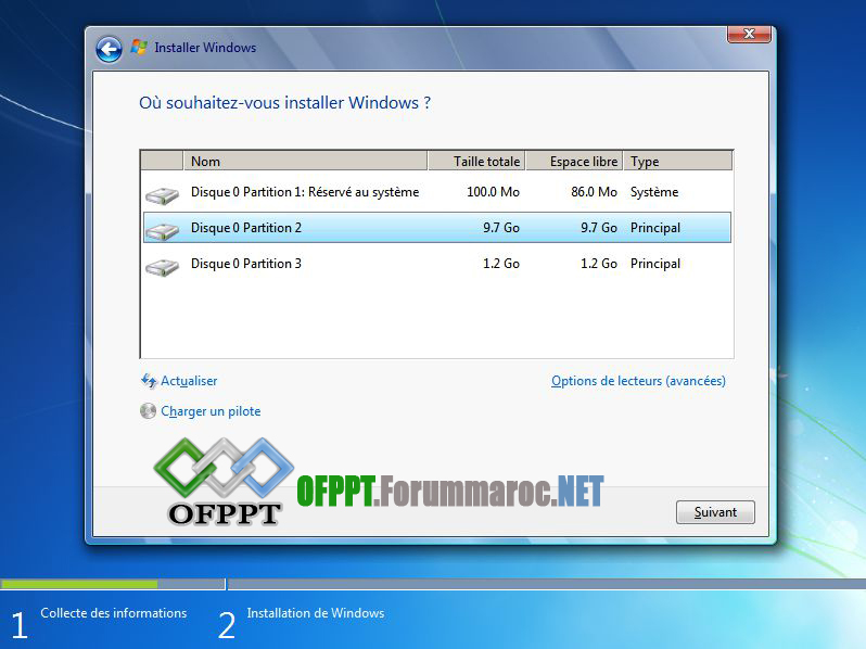 Comment installer Microsoft Windows 7 Image017