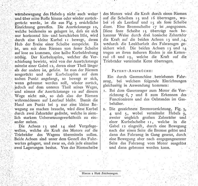 29. Januar 1886 - Berlin Patent11