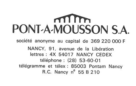 formulaire    PONT-A-MOUSSON S.A. A_pont10