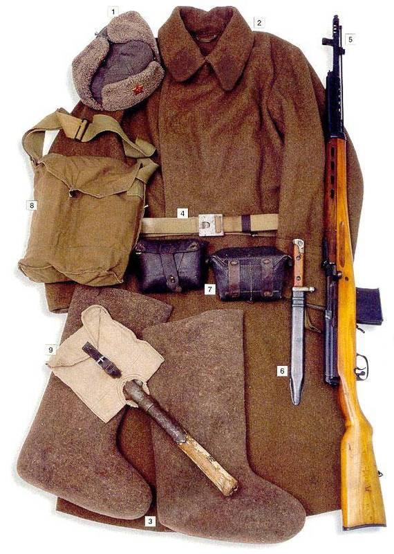 L'équipement du soldat Soviétique  A114