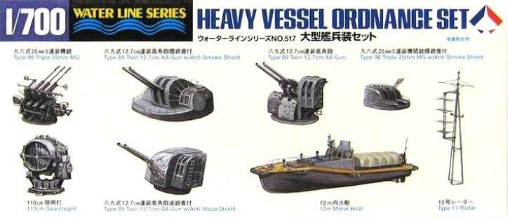 Tamiya 1/700 Heavy vessel ordnance set  Aoshim12