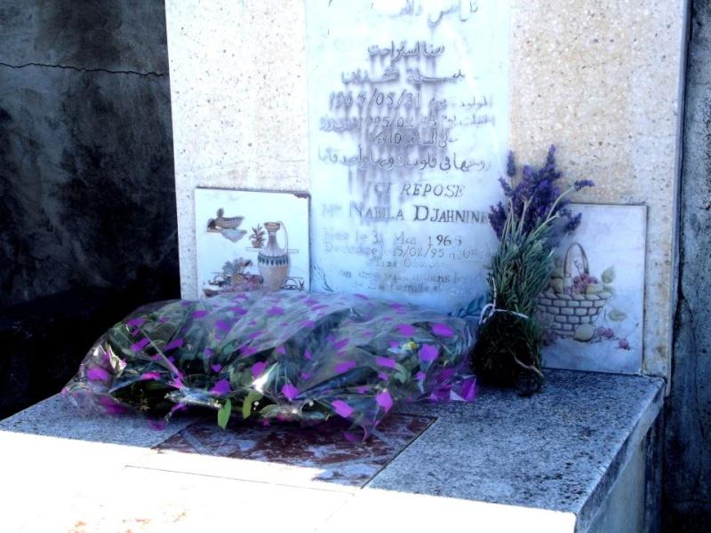 Recueillement sur la tombe de Nabila Djahnine Nadia_11