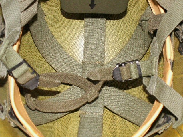Odd Chincup Attachment - 80's Airborne Helmet Modification 00213