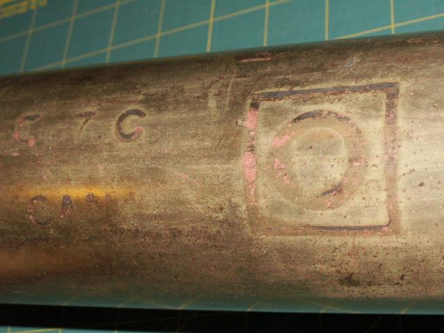 1942 6 Pounder Cartridge Casing 01114