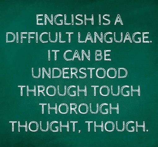 The English language is tough Dfabe110
