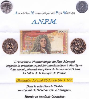 Expo numismatique à Martigues Affich10