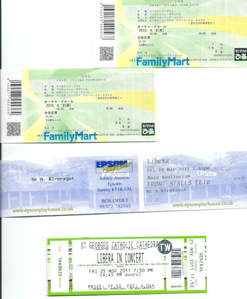 Les tickets des concerts LIBERA Numari10