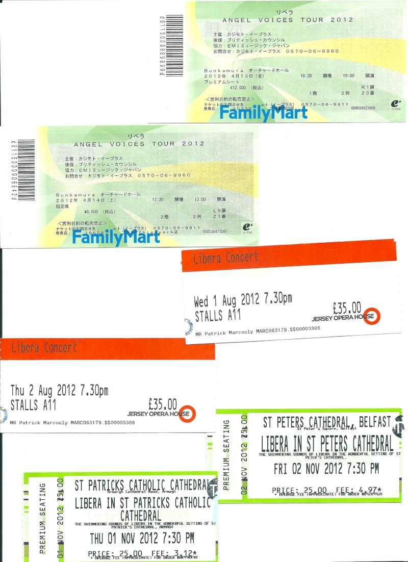 Les tickets des concerts LIBERA Numari11