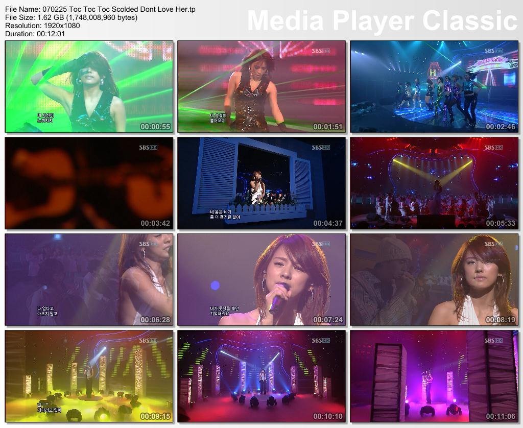 [070225] Hyori - Toc Toc Toc, Scolded, Dont Love Her @ Comeback Inkigayo SBS [1.62Gb/tp] 07022510