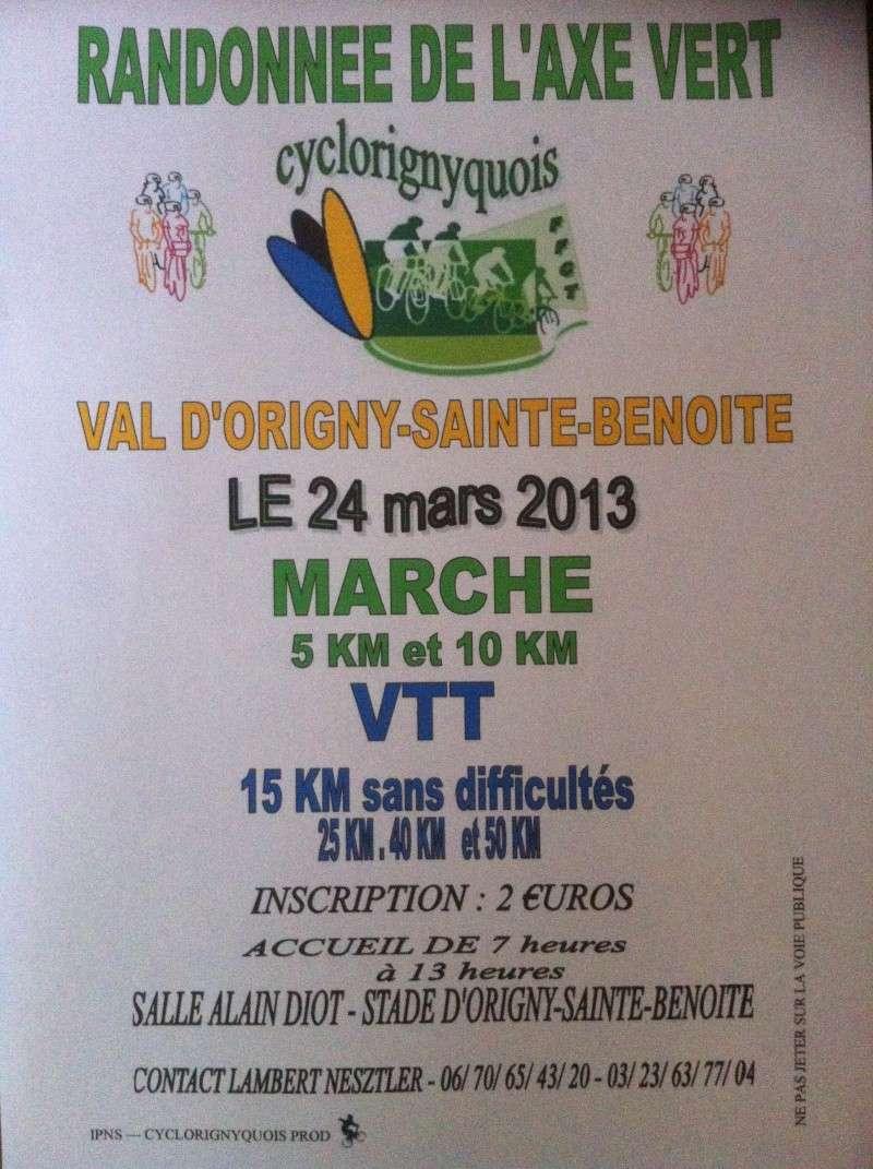 Randonnée De L'axe Vert: Le 24 mars 2013 Origny10