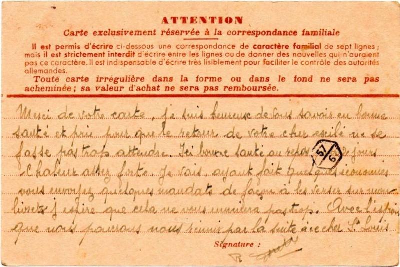 Utilisation des entiers Iris et Pétain et cartes interzones hors de France 1941_i12