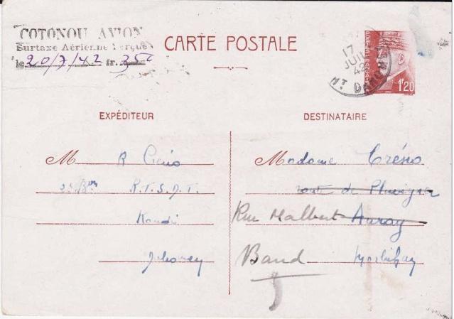 Utilisation des entiers Iris et Pétain et cartes interzones hors de France 355_0010