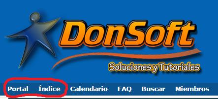 """Cambiar nombre de menú de la barra de navegación """"Portal"""" e """"Indice"""" Proble10"""