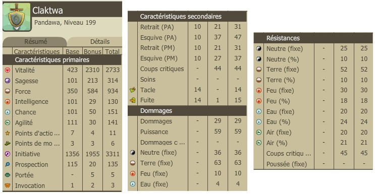 Claktwa, pandawa'gicien [sommaire page 1, beaucoup de modes] - Page 13 Caracs11