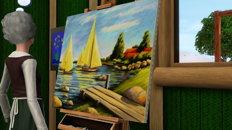 Brush Strokes - What's your Sim Painting? Screen36