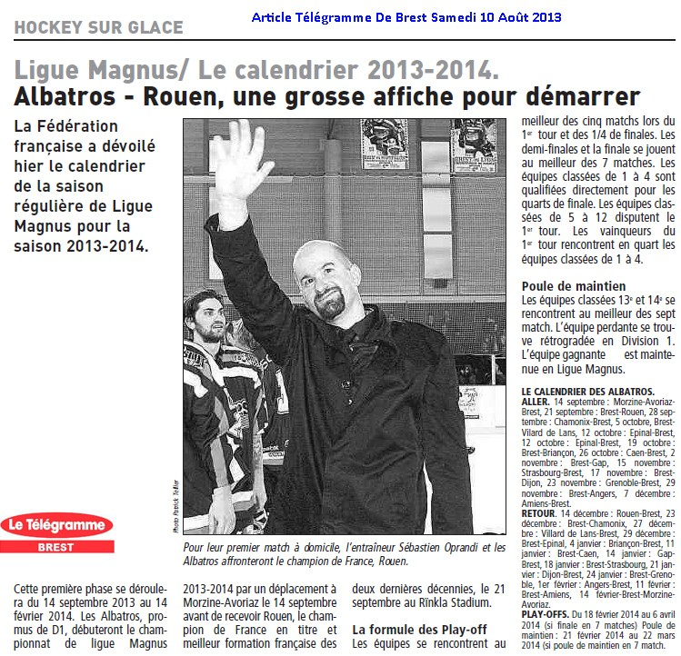 Articles Sur Les Albatros 2013 - 2014 Articl10