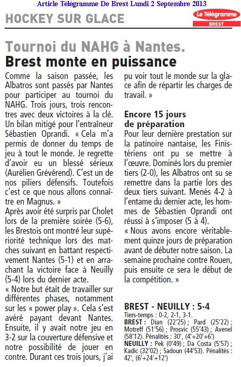Articles Sur Les Albatros 2013 - 2014 Articl20