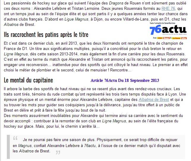 Articles Sur Les Albatros 2013 - 2014 Articl47