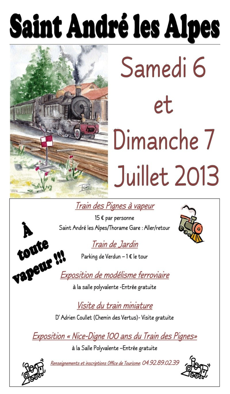 Fête du train à St André les Alpes (04) Affich11