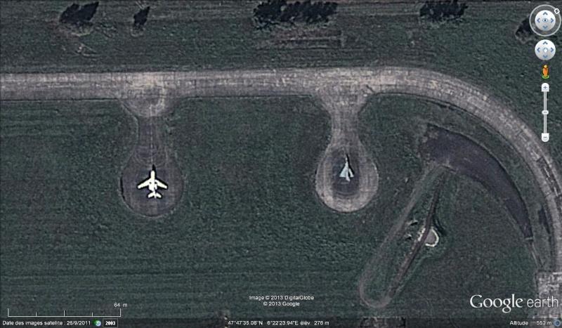 Avions sur la base atomique de Luxeuil-les-Bains, Haute-Saône Lux10
