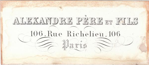 Alexandre 2 jeux 1/2 n°105 304 Signat10