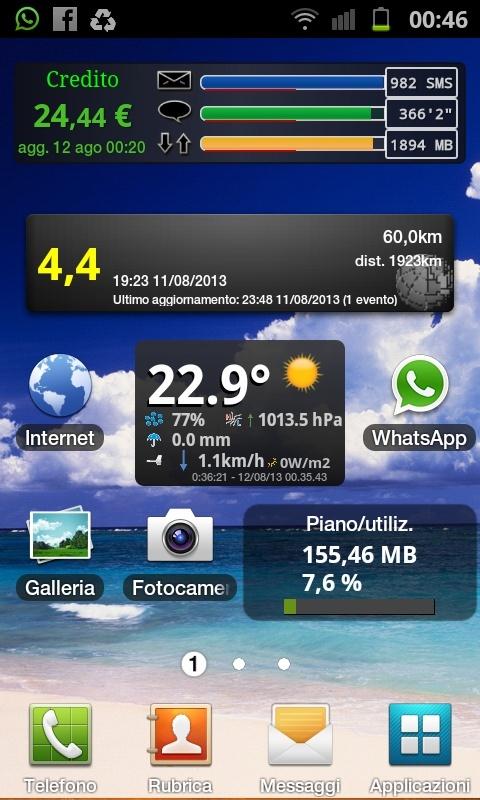 APP per cellulare android per vedere i dati della nostra stazione meteo App10
