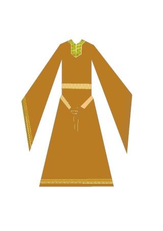 [XII] broderie costume XIIème siècle Sans_n10