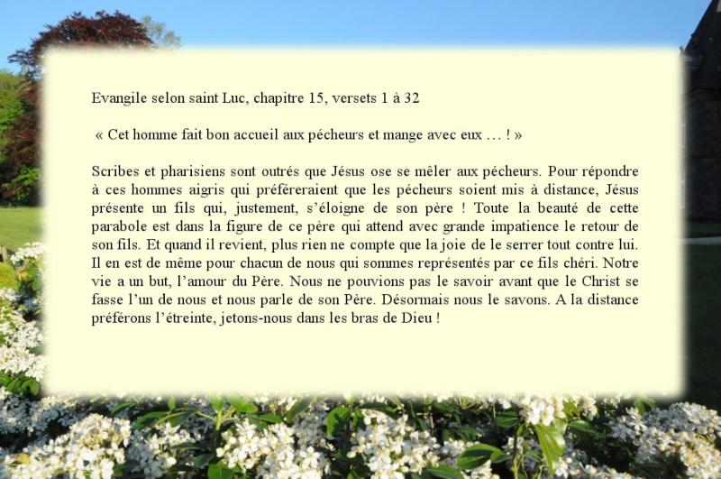 """Dimanche 15 Septembre """"Paraboles de la brebis perdue, de la drachme perdue (et du fils perdu)""""(Lc 15, 1-32) 1010"""