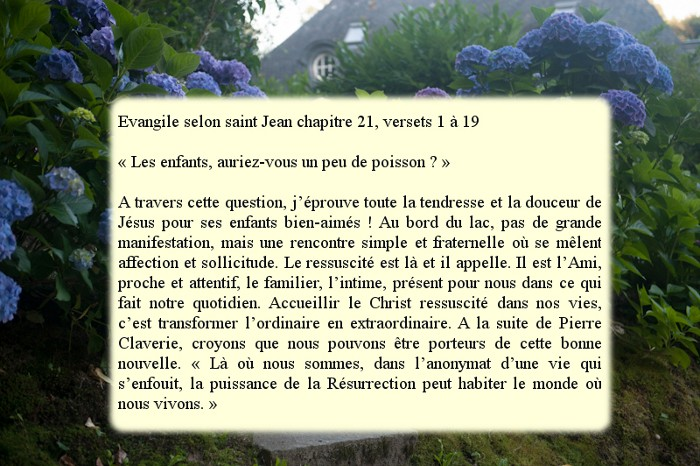 """3ème Dimanche de Pâques """"Pêche miraculeuse- profession de foi de Pierre"""" Dimanc12"""