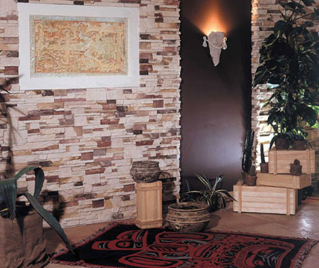 الديكورات الحجريه لجدران بيتك تعطي منظر رائع ودافئ 30743010