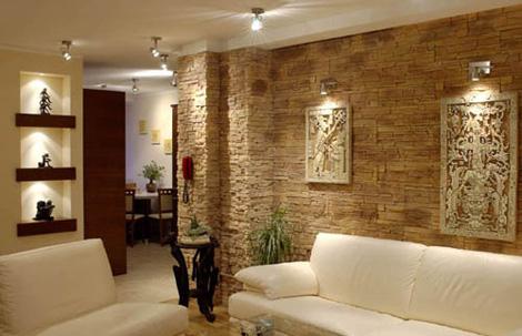 الديكورات الحجريه لجدران بيتك تعطي منظر رائع ودافئ 63845510