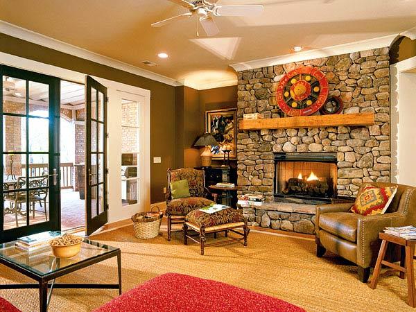 الديكورات الحجريه لجدران بيتك تعطي منظر رائع ودافئ 75020510