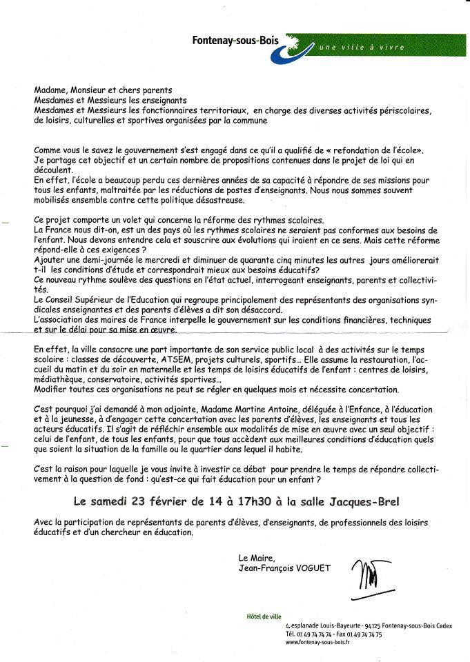 JOURS - A Fontenay comme ailleurs,  Pour nos enfants, vive la semaine de 4,5 jours en 2013 ! Invita11