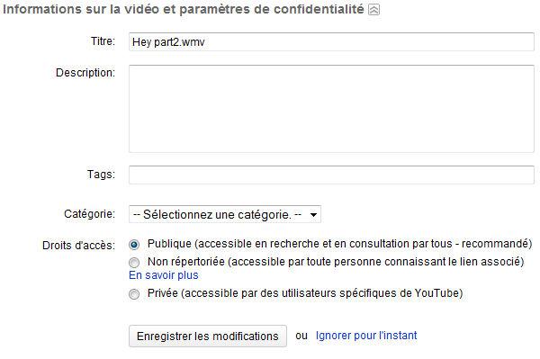 [Débutant] Ajouter une vidéo sur Youtube Yout_410