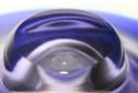 Blue glasbowl and bottlevase czech, bohemian? Murano10