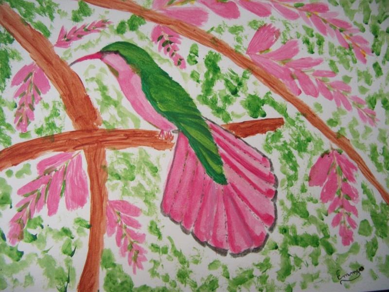 Premier dessin, mon colibri ! Dscf5110