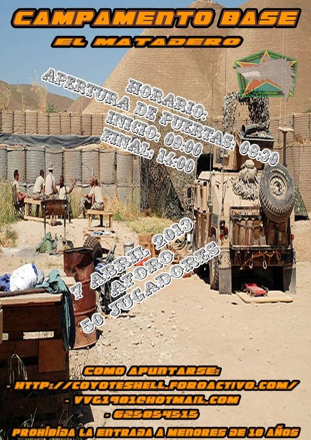 Campamento base, partida abierta 7.04.13 El Matadero Campam10