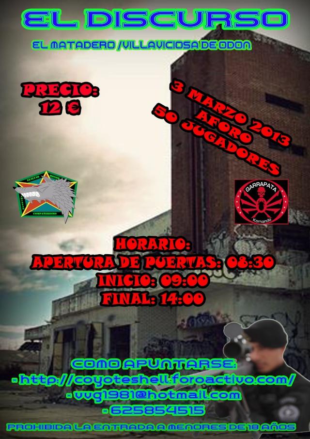 El discurso, partida abierta 3.03.13 El Matadero de Villaviciosa Eldisc11