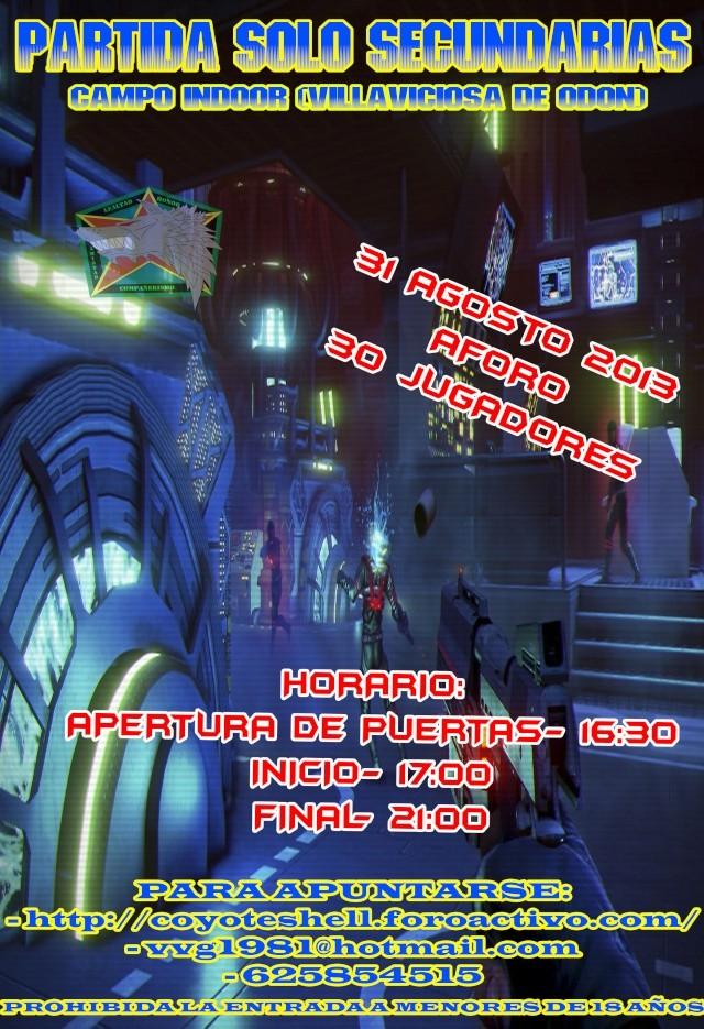 Solo Secundarias, partida abierta (De Tarde) 31.08.13 Indoor (Villaviciosa de Odon) Indoor10