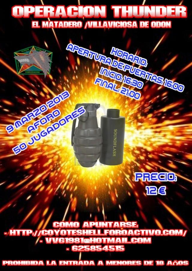 Operacion Thunder, partida abierta (De Tarde) 9.03.13 El Matadero de Villaviciosa Operac11