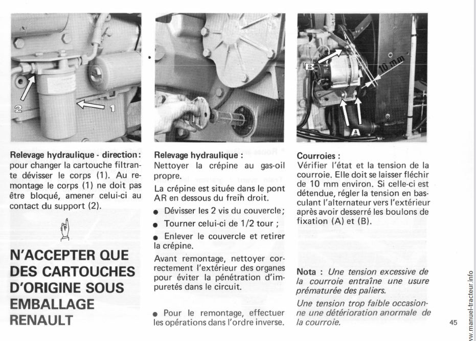 hydraulique sur renault 851 85110
