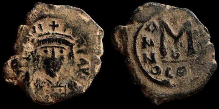 Follis d'Héraclius avec le buste de face Bc080410