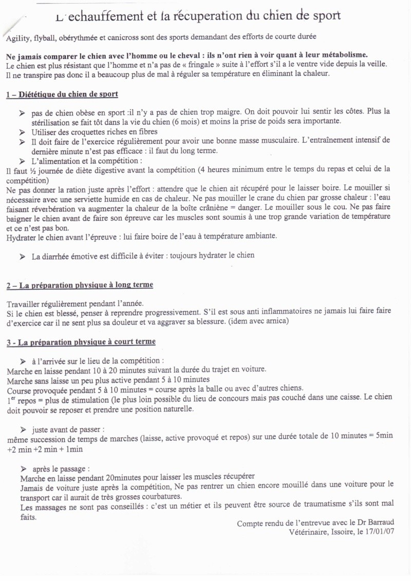 L'ECHAUFFEMENT ET LA RECUPERATION DU CHIEN DE SPORT 1235cn13